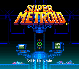 Super Metroid - So Little Time Title Screen